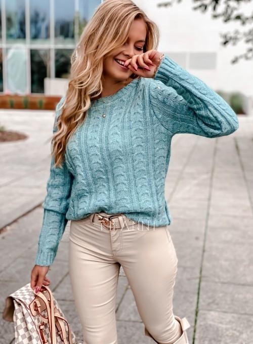 Sweter z warkoczem Cristi 2