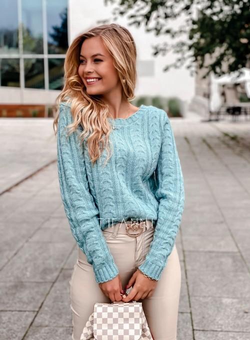 Sweter z warkoczem Cristi 3