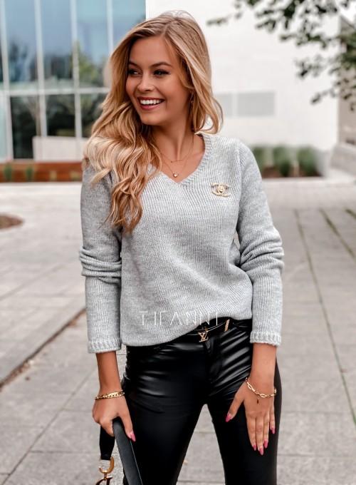 Sweter Pandi szary