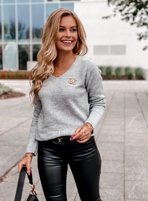 Sweter Pandi szary 2