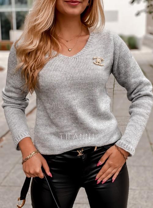 Sweter Pandi szary 1