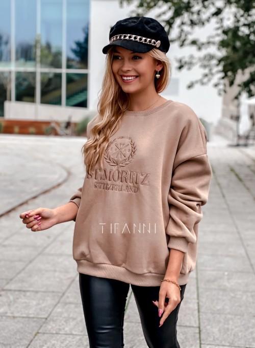 Bluza dzianinowa St.Moritz beżowa