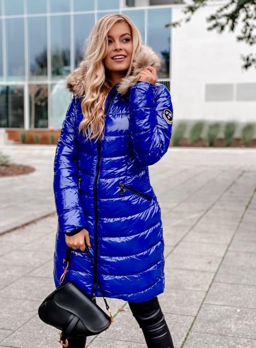 Kurtka lakierowana Oxana blue