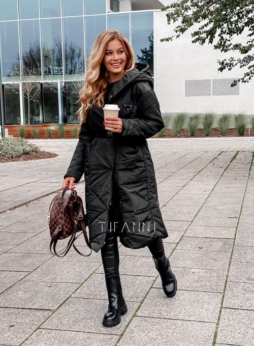Kurtka płaszcz Sophia czarna 2