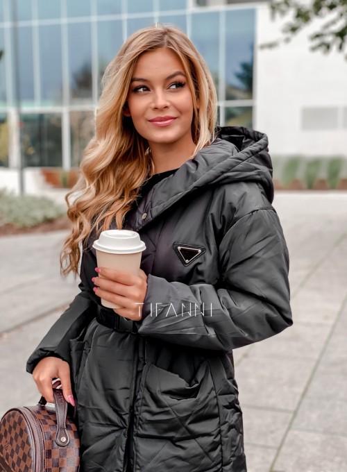 Kurtka płaszcz Sophia czarna 3
