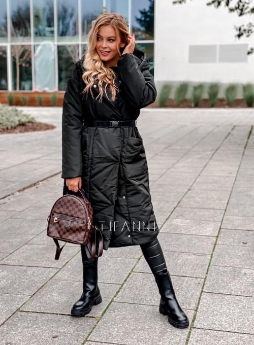 Kurtka płaszcz Sophia czarna 5