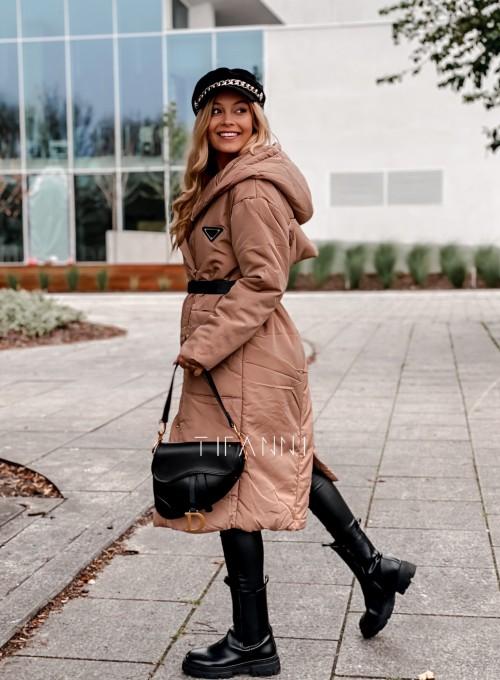 Kurtka płaszcz Sophia camel 2