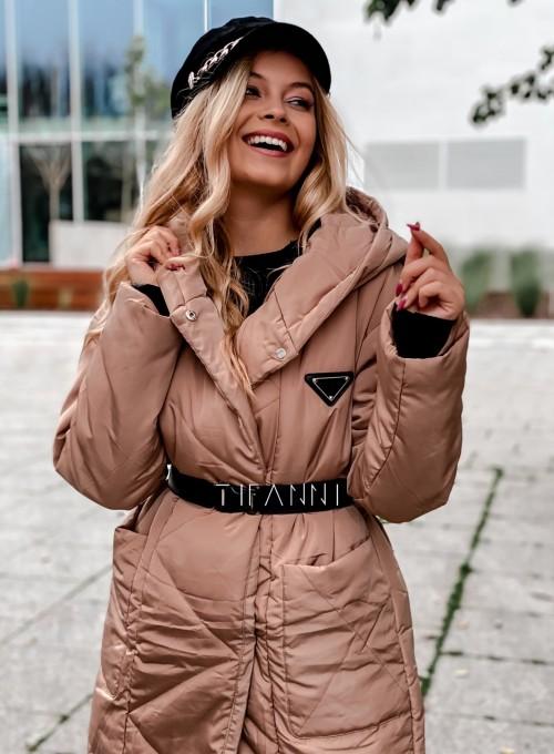 Kurtka płaszcz Sophia camel 3