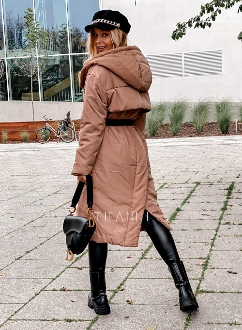 Kurtka płaszcz Sophia camel 1