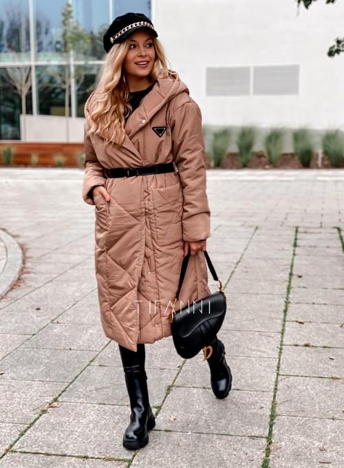 Kurtka płaszcz Sophia camel 4