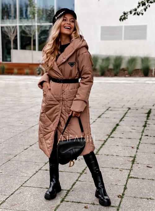 Kurtka płaszcz Sophia camel 5