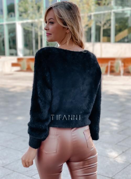 Sweter z ozdobnym łańcuszkiem Loretto czarny 5