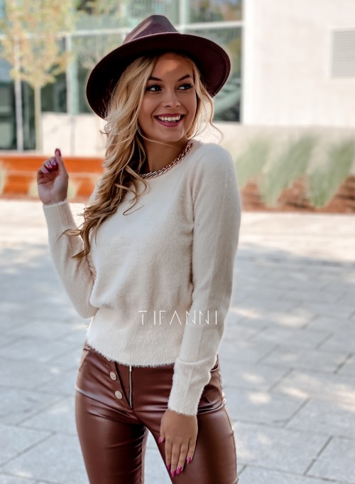 Sweter alpakowy Tifi cream