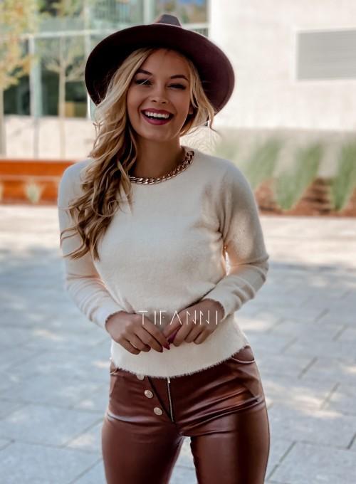 Sweter alpakowy Tifi cream 3
