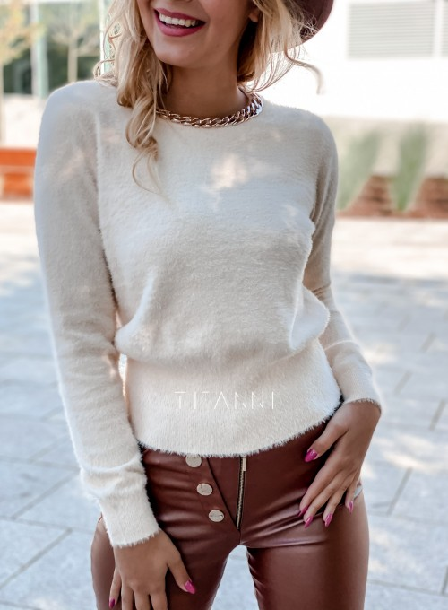 Sweter alpakowy Tifi cream 1