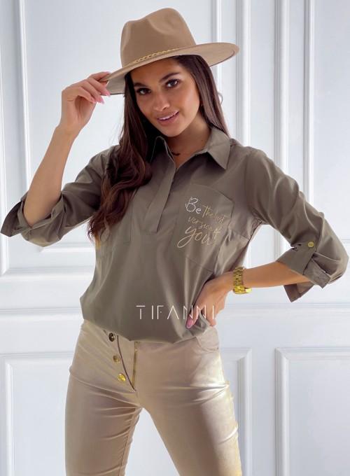 Bluzka koszulowa Best khaki