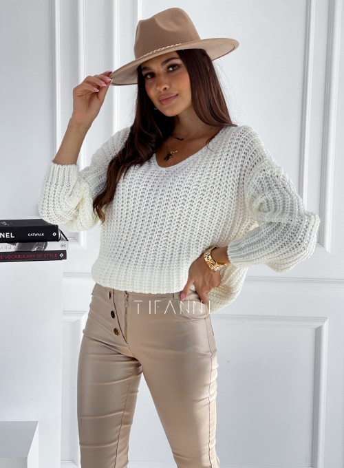 Sweter Rebi śmietankowy