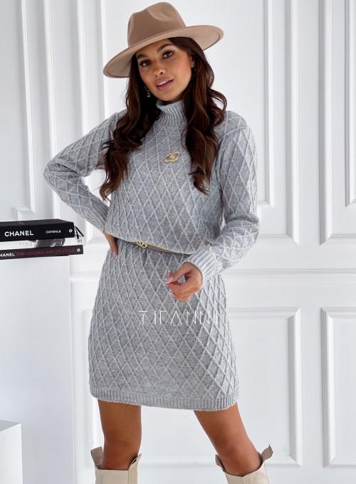Sukienka swetrowa Evely szara