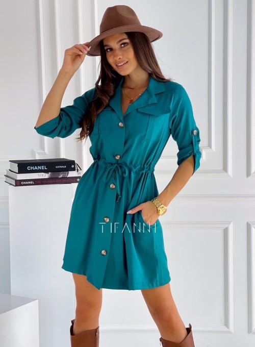 Sukienka koszulowa Melissa butelkowa zieleń