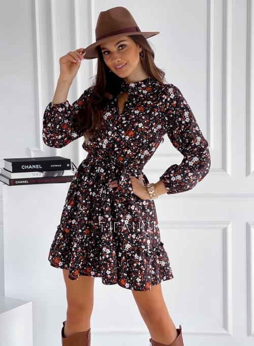 Sukienka w kwiatki Malvia black print