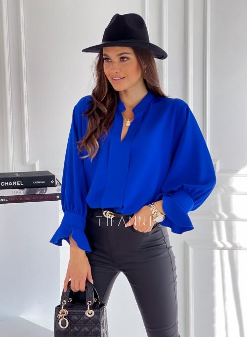 Elegancka bluzka Gotic chabrowa