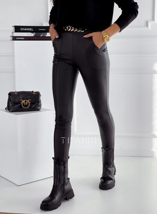 Spodnie leginsy z łańcuchem Casy czarne