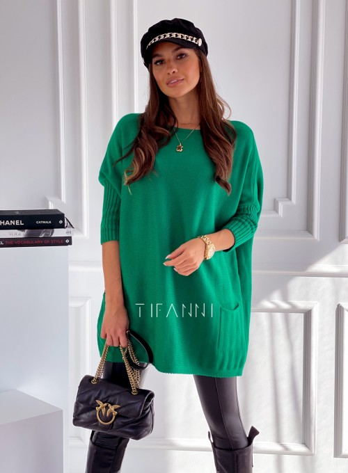 Sweter oversize Olgi zielony