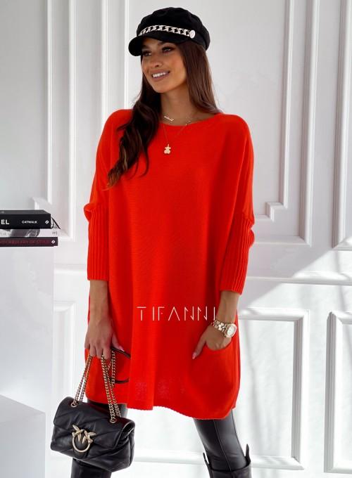 Sweter oversize Olgi orange