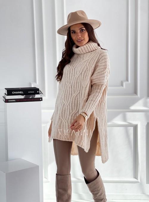Sweter oversize Mella cream