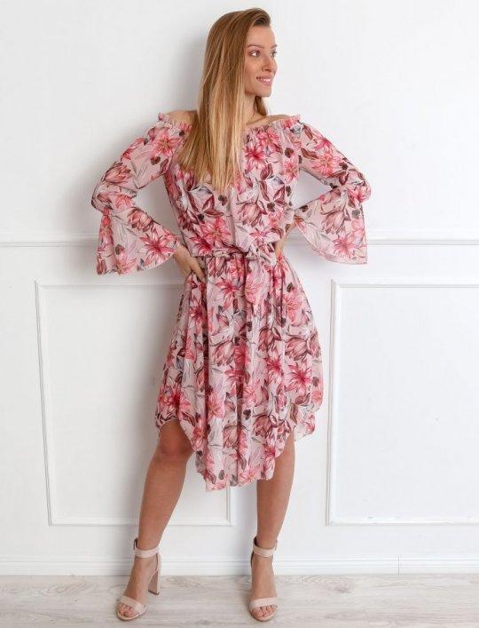 Sukienka Milano Pudrowa