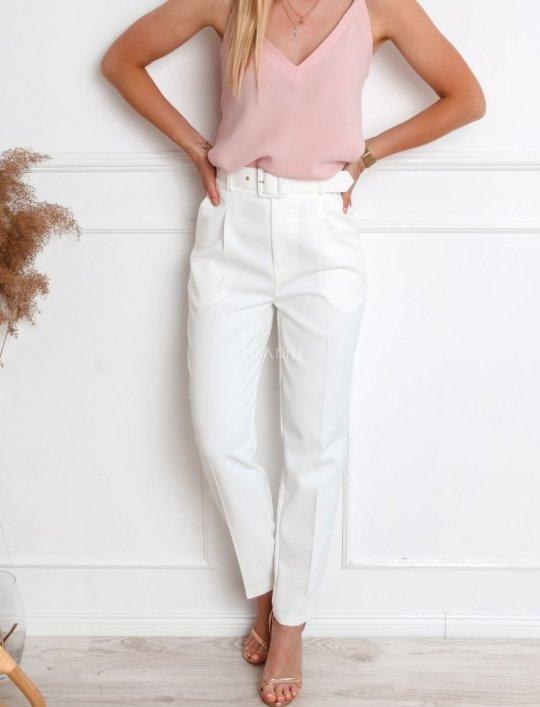 Spodnie Rimini śmietanowe