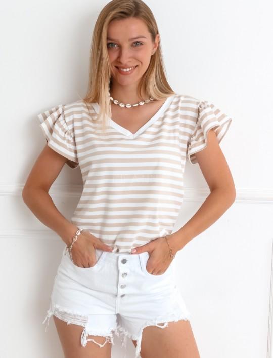 T-shirt Ritz beżowy