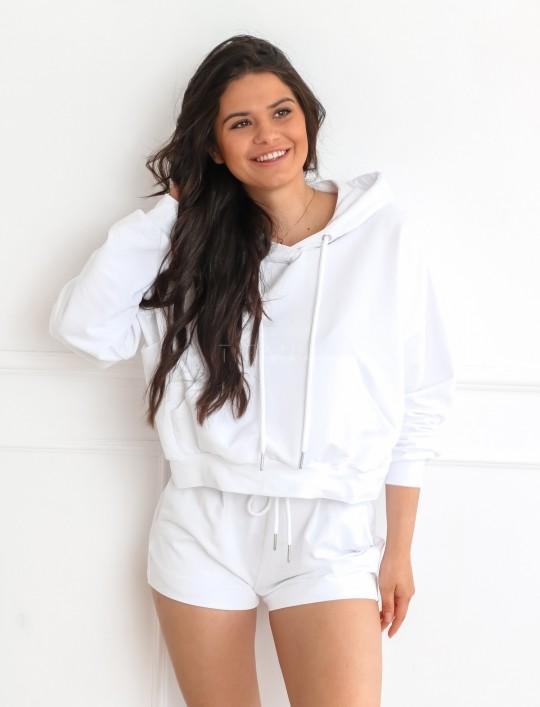 Komplet bluza ze spodenkami Summer biały