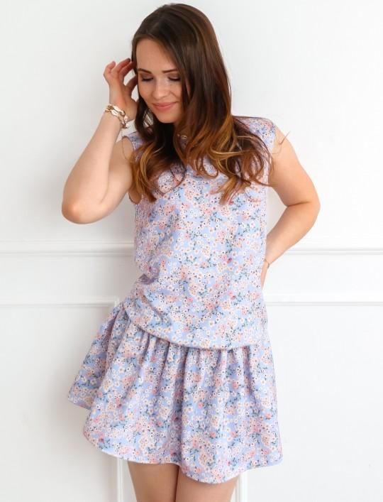 Sukienka Sophi liliowa łączka