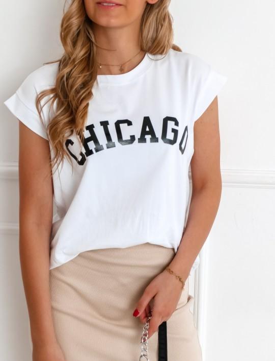 T-shirt CHICAGO biały