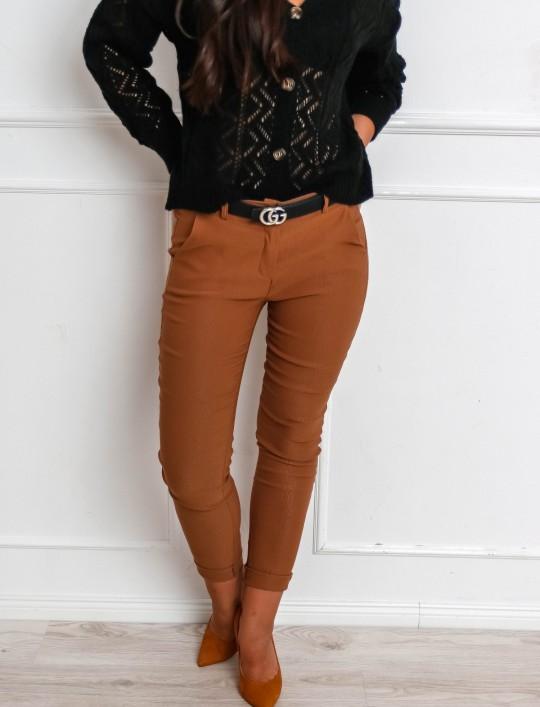 Spodnie Zinni karmelowe