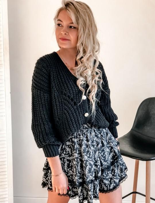 Rozpinany sweter Elen czarny