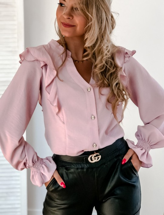 Koszula Ana pudrowa