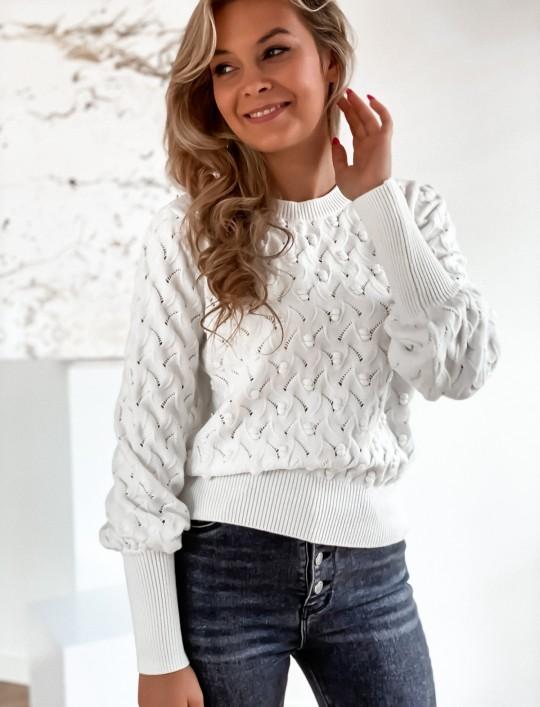 Sweter Naomi śmietankowy