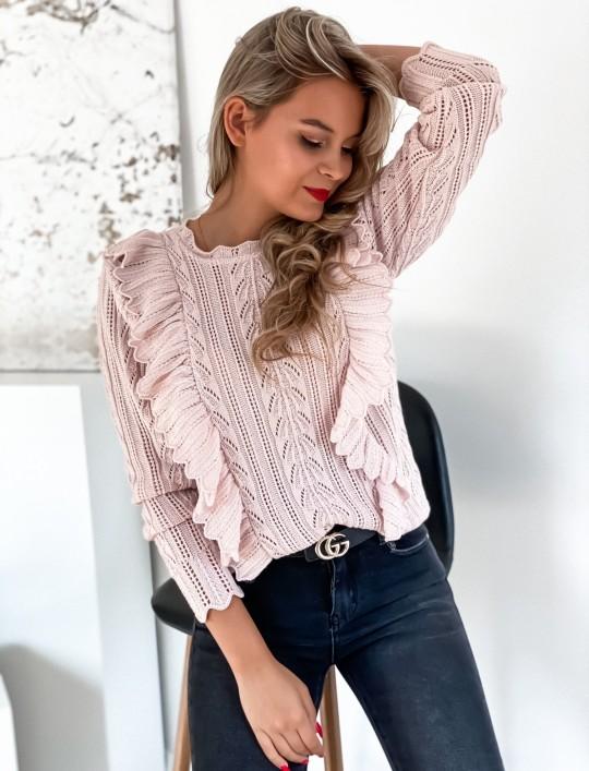 Sweter Zuzi pudrowy