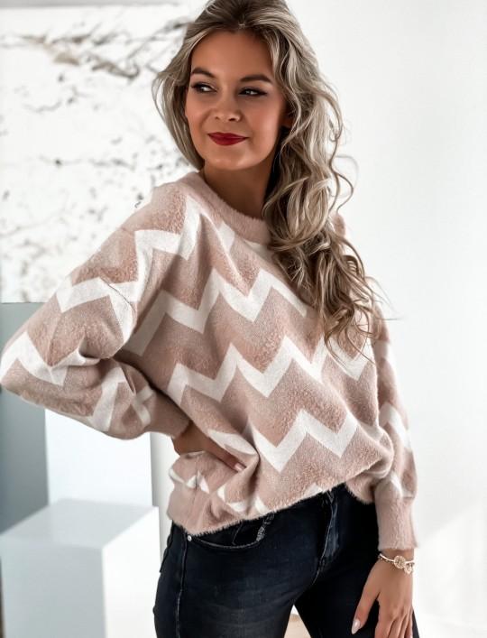 Sweter Debi pudrowy