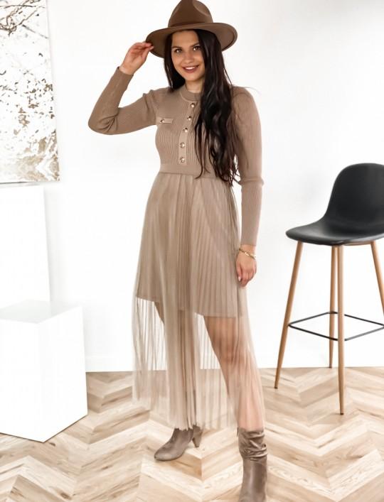 Sukienka Bonita beżowa