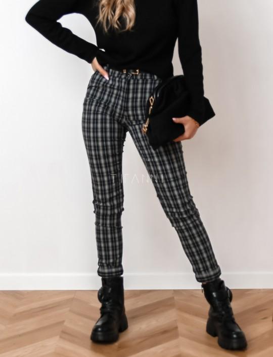 Spodnie Mallena szaro-czarne