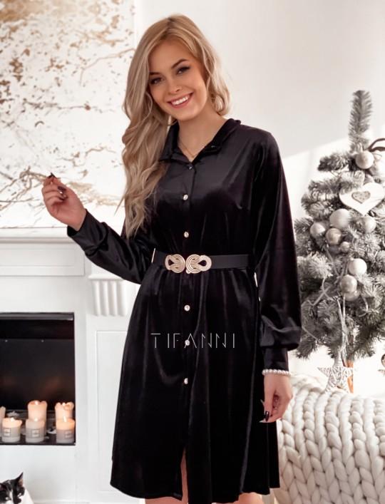 Aksamitna sukienka Stella czarna