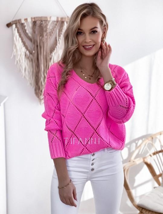 Sweter Dotty pink