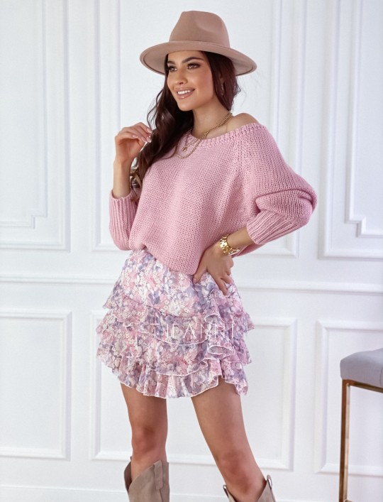 Sweter Cristal pudrowy