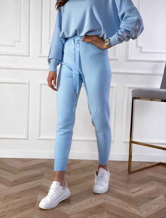 Spodnie Queenie blue