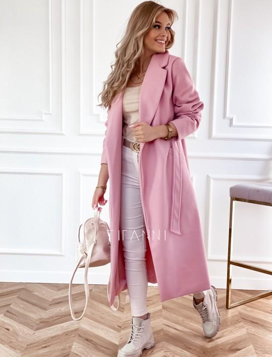 Płaszcz Brilante w kolorze pudrowym