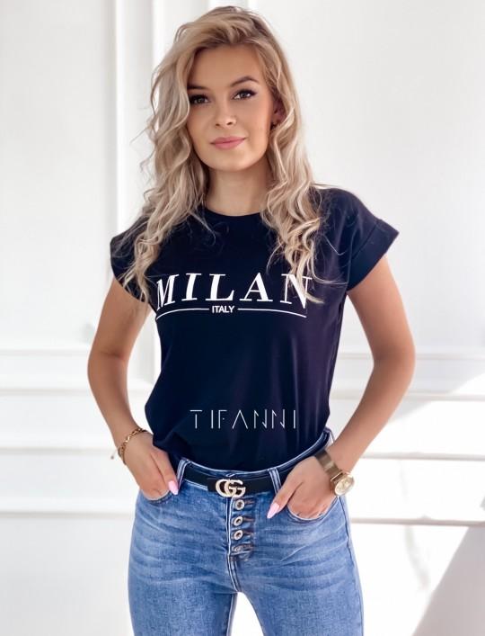 T-shirt Milan czarny
