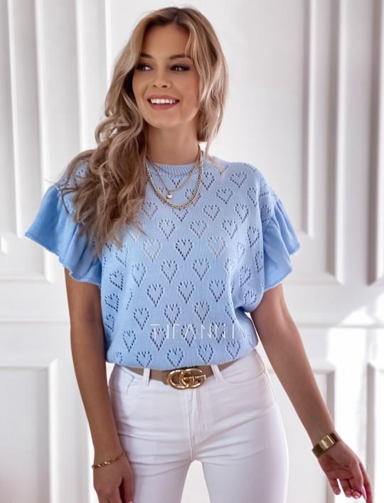 Bluzka sweterkowa Bergi błękitny